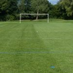 Football goal at QEII Playing Fields