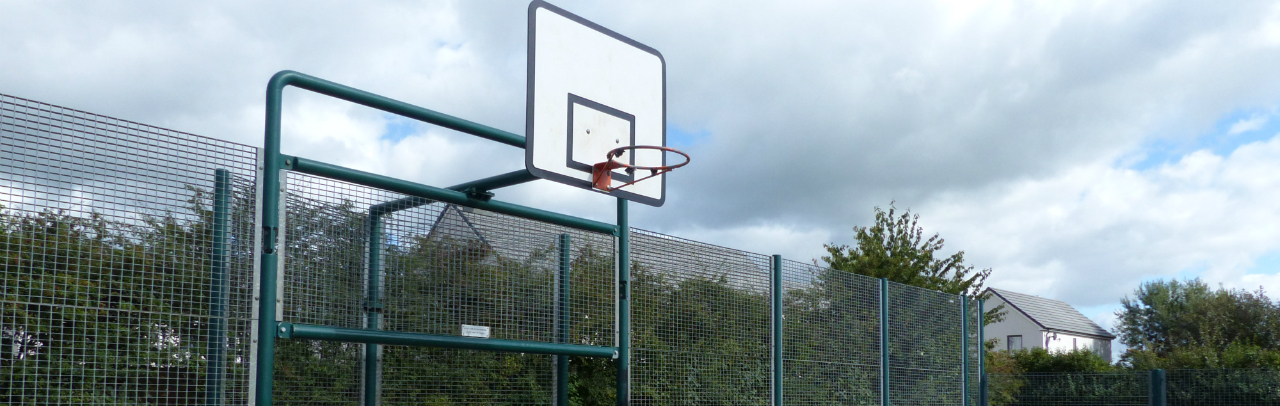 Basketball hoop at QEII Playing Fields