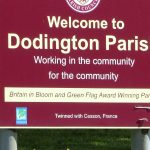 Welcome to Dodington Parish sign