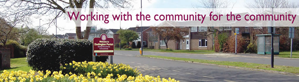 Banner showing image of Heron Way in Chipping Sodbury, text says Working with the community for the community