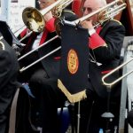 Dodington Parish Brass Band playing instruments
