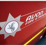 Avon Fire and Rescue logo on side of fire engine
