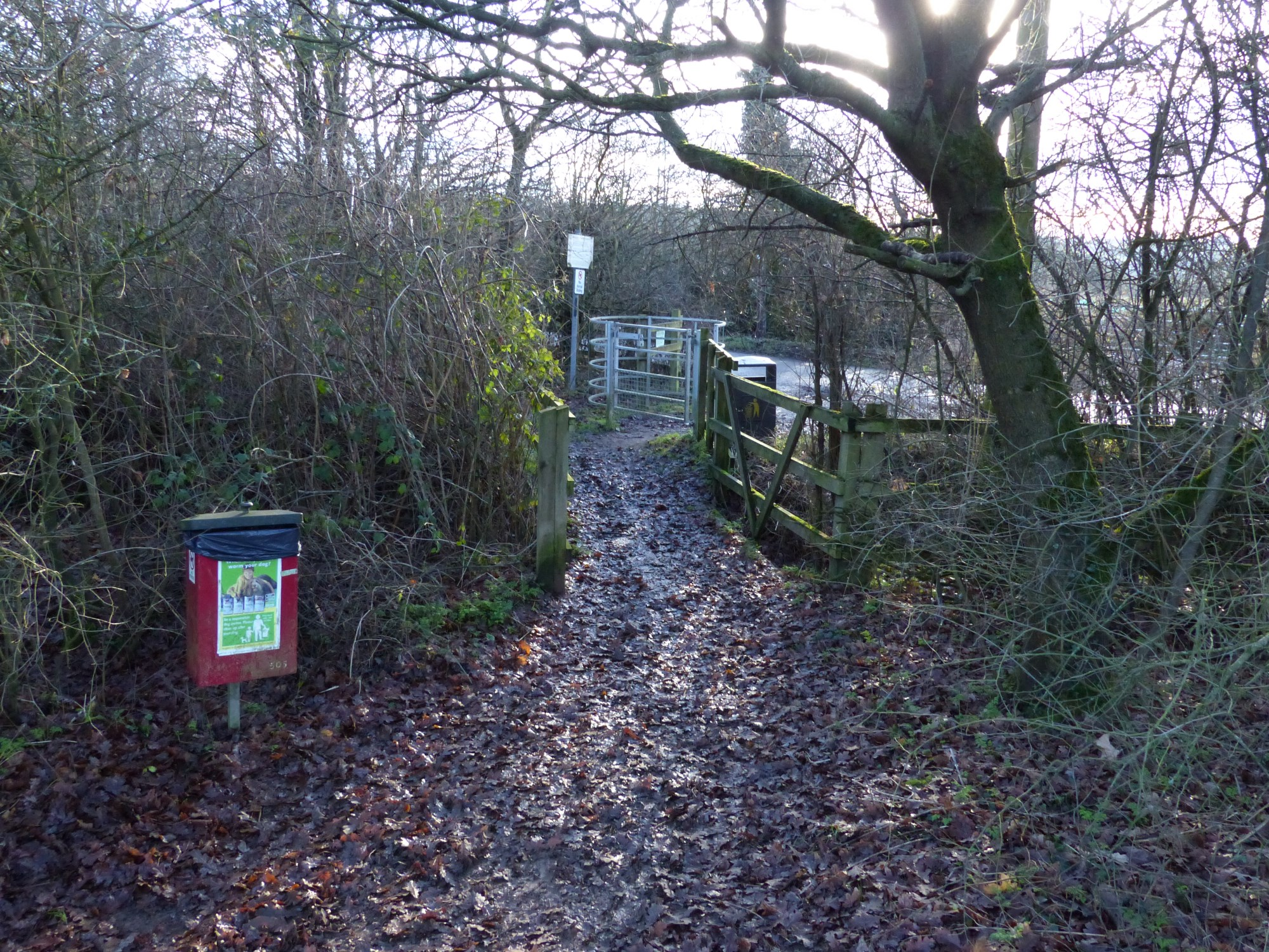 Gate at Wapley Bushes Nature Reserve