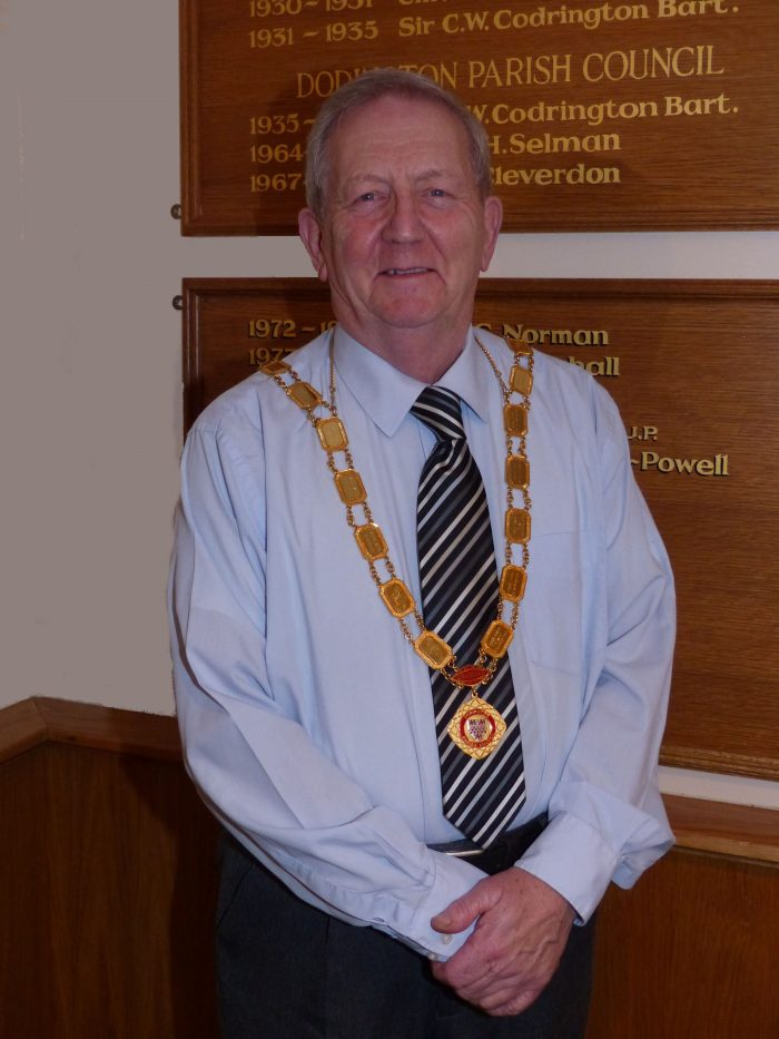Councillor David Lane with chain of office
