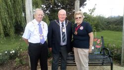 Chairman of South Gloucestershire Council at QEII Memorial Garden