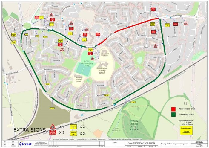 Map showing where works are to take place, please contact the Parish Council office for assistance with this map.